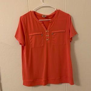 Anne Klein Orange Blouse Size Medium